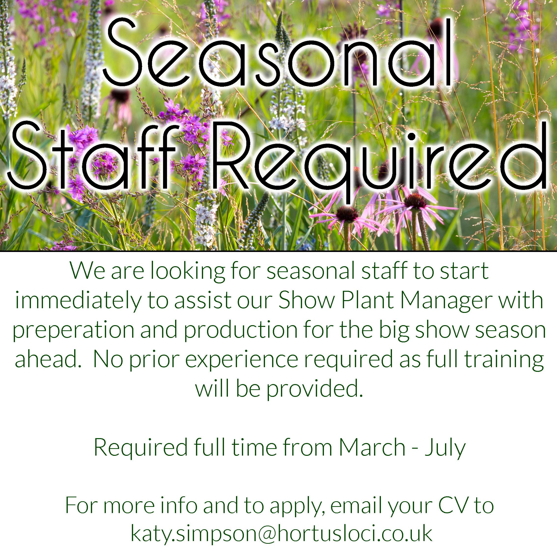Seasonal Staff Ad